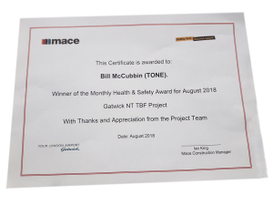 Mace Safety Award