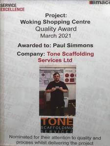 Woking Quality Award March 2021